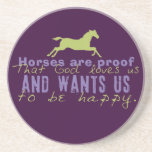 Horses Are Proof Beverage Coaster