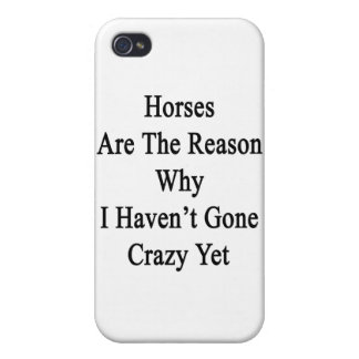 Horses Are The Reason Why I Haven't Gone Crazy Yet Cases For iPhone 4