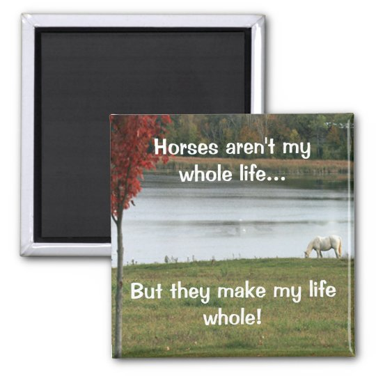 Horses Aren't My Whole Life Magnet