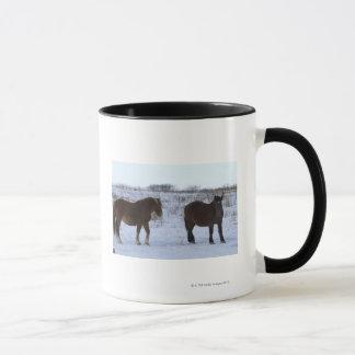 Horses at Cape Kiritappu, Hokkaido Prefecture, Mug