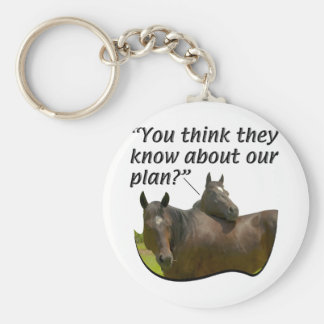 Horses - At Leisure - The Planners Basic Round Button Key Ring