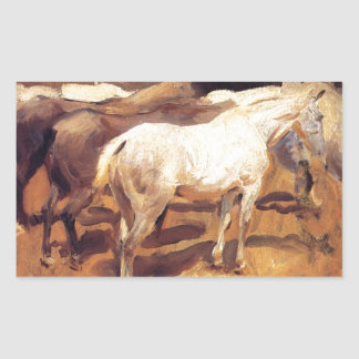 Horses at Palma by John Singer Sargent Rectangular Sticker