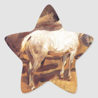 Horses at Palma by John Singer Sargent Star Sticker