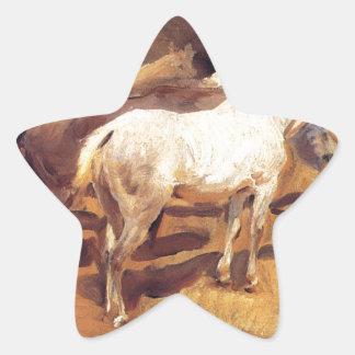Horses at Palma by John Singer Sargent Star Sticker