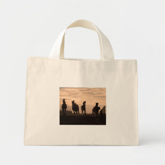 Horses at Sunset Mini Tote Bag