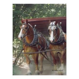 Horses At Work Poster