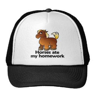 Horses ate my homework trucker hat