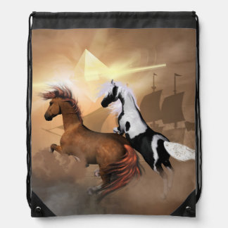 Horses Drawstring Bags