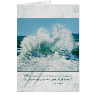 Horses battle at Sea - Inspirational Card