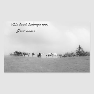 Horses bookplate stickers