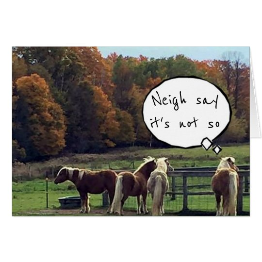 ***HORSES CAN'T BELIEVE THE NEWS*** 50th BIRTHDAY Card