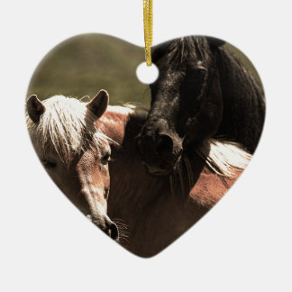 Horses Ceramic Heart Decoration