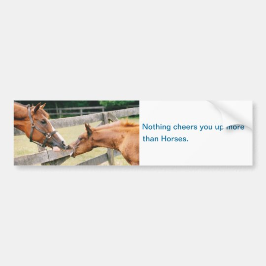 Horses cheer you up Bumper Sticker