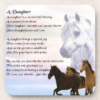 Horses - Daughter Poem Coaster