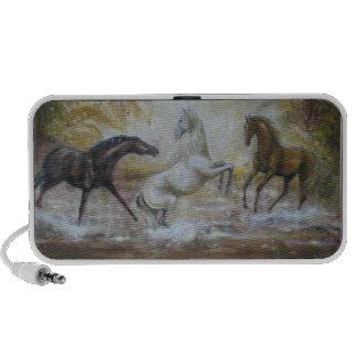 Horses doodle laptop speaker