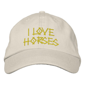 HORSES EMBROIDERED HAT