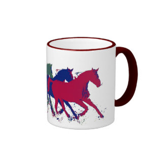 horses ~ farm animals ringer mug
