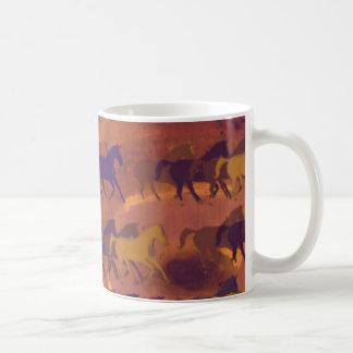 horses farm pattern basic white mug