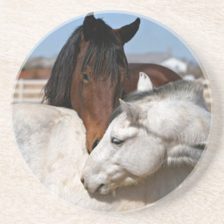 horses farm ranch equine western sports love drink coasters