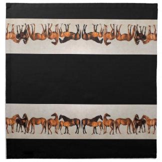 Horses Foals Colts Mares Animals Cloth Napkins