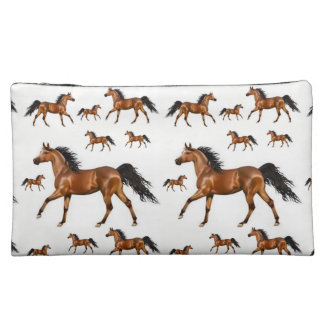 horses girls cosmetic bag