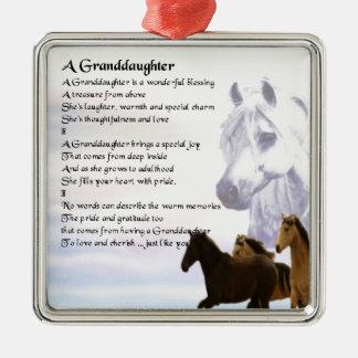 Horses Grandaughter poem Christmas Ornament