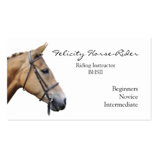 Horse's head on a plain background pack of standard business cards