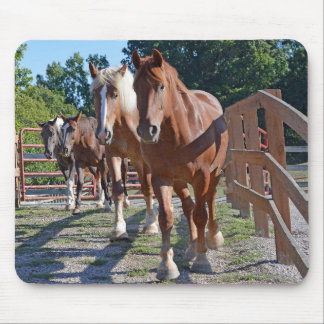 Horses Headed Back To The Barn Mouse Mat