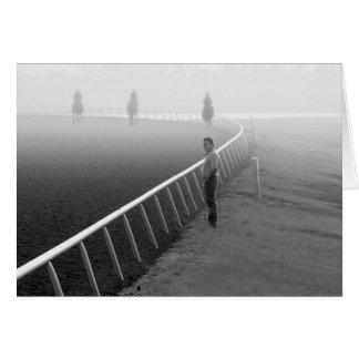 Horses - Horse-racing - Railbird Greeting Card