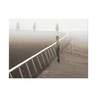 Horses - Horse Racing - Trackside @ Saratoga Stretched Canvas Print