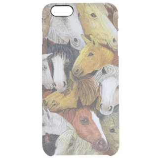 Horses Horses Clear iPhone 6 Plus Case