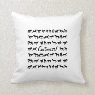 Horses, Horses, Horses! Throw Cushion