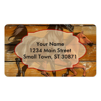 Horses Horseshoes Barn Wood Cowboy Pack Of Standard Business Cards