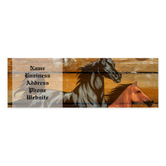 Horses Horseshoes Barn Wood Cowboy Pack Of Skinny Business Cards