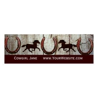 Horses Horseshoes Barn Wood Cowboy Business Cards