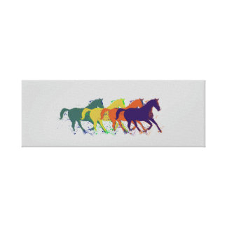 horses house-decor stretched canvas prints