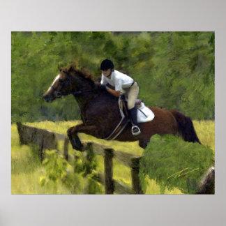 Horses - Hunter-Jumpers - Krista Afield Poster