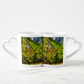 Horses in a great landscape lovers mug