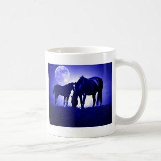 Horses in Blue Night Mugs
