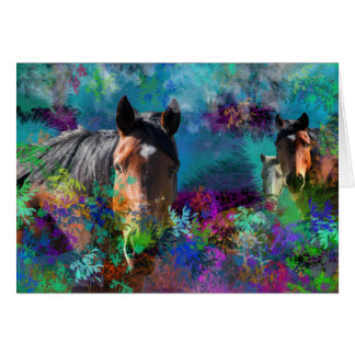Horses In Fantasyland: A Horse Dream Come True Card