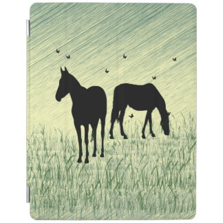 Horses in Field iPad Cover
