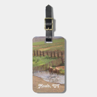 Horses in Moab Travel Bag Tag