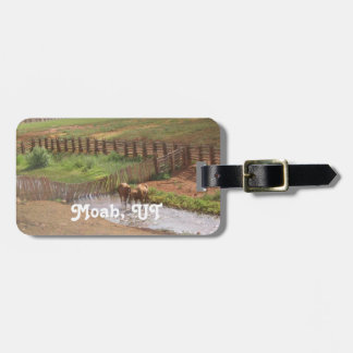 Horses in Moab Tag For Luggage
