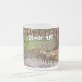 Horses in Moab 10 Oz Frosted Glass Coffee Mug