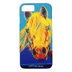 Horses in Primary iPhone case