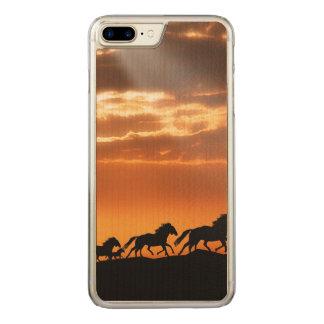 Horses in sunset carved iPhone 8 plus/7 plus case