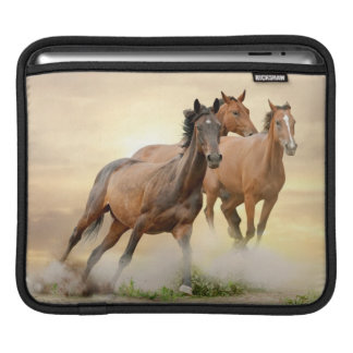 Horses In Sunset iPad Sleeve