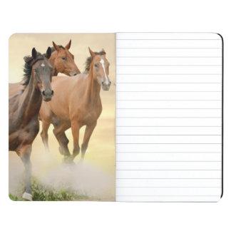 Horses In Sunset Journal