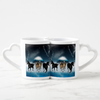 Horses in the universe lovers mug sets