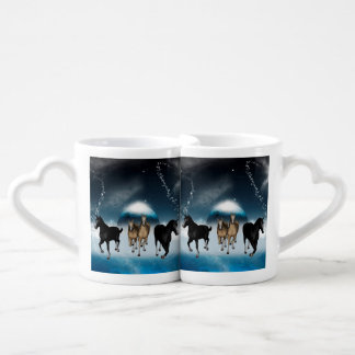 Horses in the universe couples mug